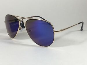 Steve Madden Women s Aviator Sunglasses Gold Frame Blue Mirror Lens ... e9b327b226