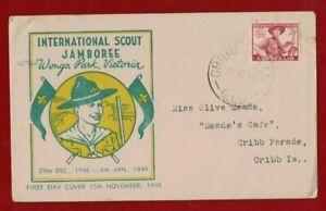 1948-Australia-Scouts-Jamboree-Wonga-Park-15-Nov-1948-Rare-FDC