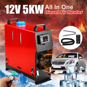 Tutto-In-Uno-12V-5KW-Parcheggio-Riscaldatore-Aria-Diesel-Air-Heater-Quattro-Fori