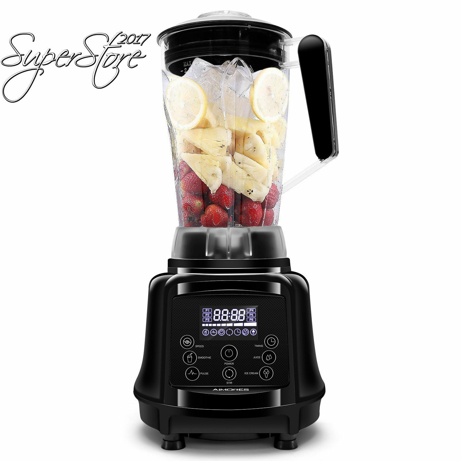 New Professional Blender aimores, 75 OZ (environ 2126.18 g) 1 en 3-programmable smoothie jus de glace...