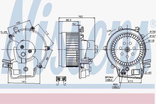 Nissens 87111 Blower Motor fit MERCEDES C-CLASS W203   00