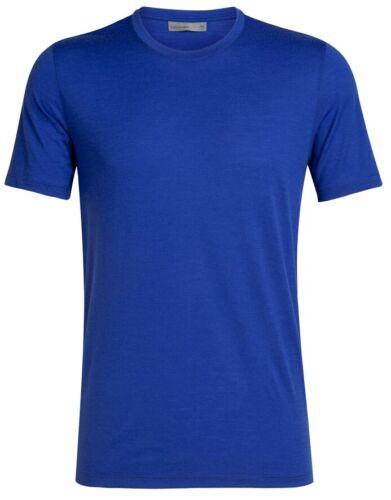 Icebreaker Tech Lite Short Sleeve Crewe Men T-Shirt Herren Funktionsshirt blau