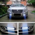 2x 12V DC Car Super Daytime Running Light 8 LED DRL Daylight Head Lamp White
