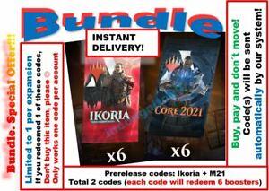 MTG Arena Code IKORIA IKO PRERELEASE INSTANT 6 boosters Core Set 2021 M21