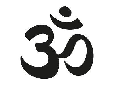 1 x 2 Plott Aufkleber OM Zeichen Mul Mantra Hindu Pranav