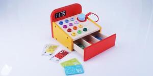 Spiel-Kaufladenzubehoer-Holz-Kasse-Kinderkasse-Kaufladenkasse-Kinder