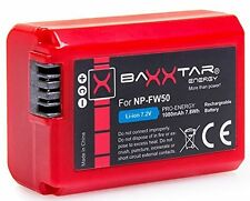 TESTSIEGER!! BAXXTAR  Akku für Sony NP-FW50 (1080mAh) für NEX SLT ALPHA