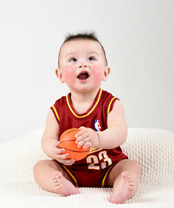 the latest c9211 b51e5 Details about Baby Infant toddler NBA Jersey Romper Jumpsuit Cleveland  Cavalier - James #23