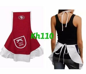 b3999245 Details about NFL San Francisco 49ers Hostess Apron,Tailgating Grilling  Party BBQ