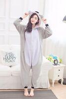 Unisex Adult Kigurumi Pajamas Anime Cosplay Costume Onesie Sleepwear Grey Koala