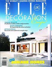 ELLE DECORATION UK August 2013 SUMMER HOMES Trend Watch RETRO Modern @New@