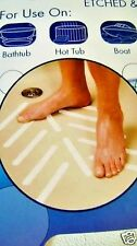 BATH TUB Treads 24 WHITE Safety Strips Appliques Non Slip Mat Peel n Stick
