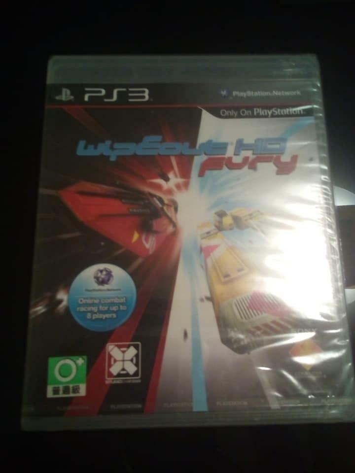 PS3 Wipeout Fury Hd ASIA VERSION NEW SEALED