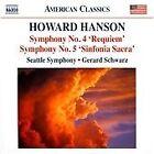 Howard Hanson - : Symphonies Nos. 4 'Requiem' & 5 'Sinfonia Sacra' (2012)