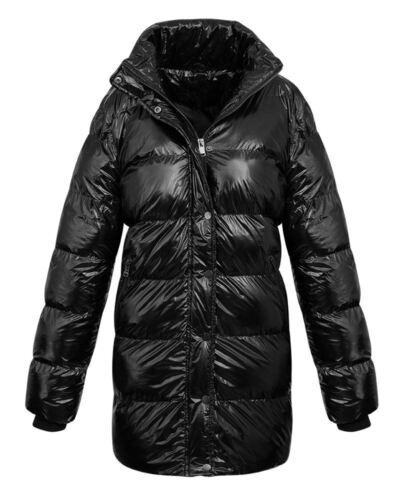 Vinter Womens Polstret Lang Ladies Black Collar Quiltet Frakke Varm Jakke qxYgp