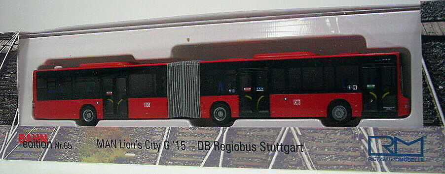 1 87 Rietze MAN Lions City G 2015   DB - Regiobus Stuttgart  | Komfort
