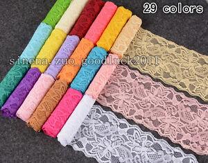 5-yard-Flower-Stretch-Elastic-Lace-Trim-Ribbon-Sewing-dress-Headband-craft-FL108