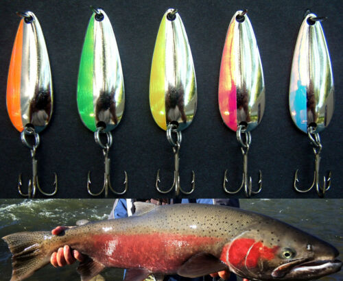 "1 3//4/"" Smooth Nickel Casting  Spoons 1//4 oz  .045  Walleye Candy NKLPEARL"