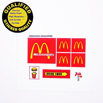 Toys STICKERS for CUSTOM LEGO KFC BUILDS Etc 3438 McDonald size