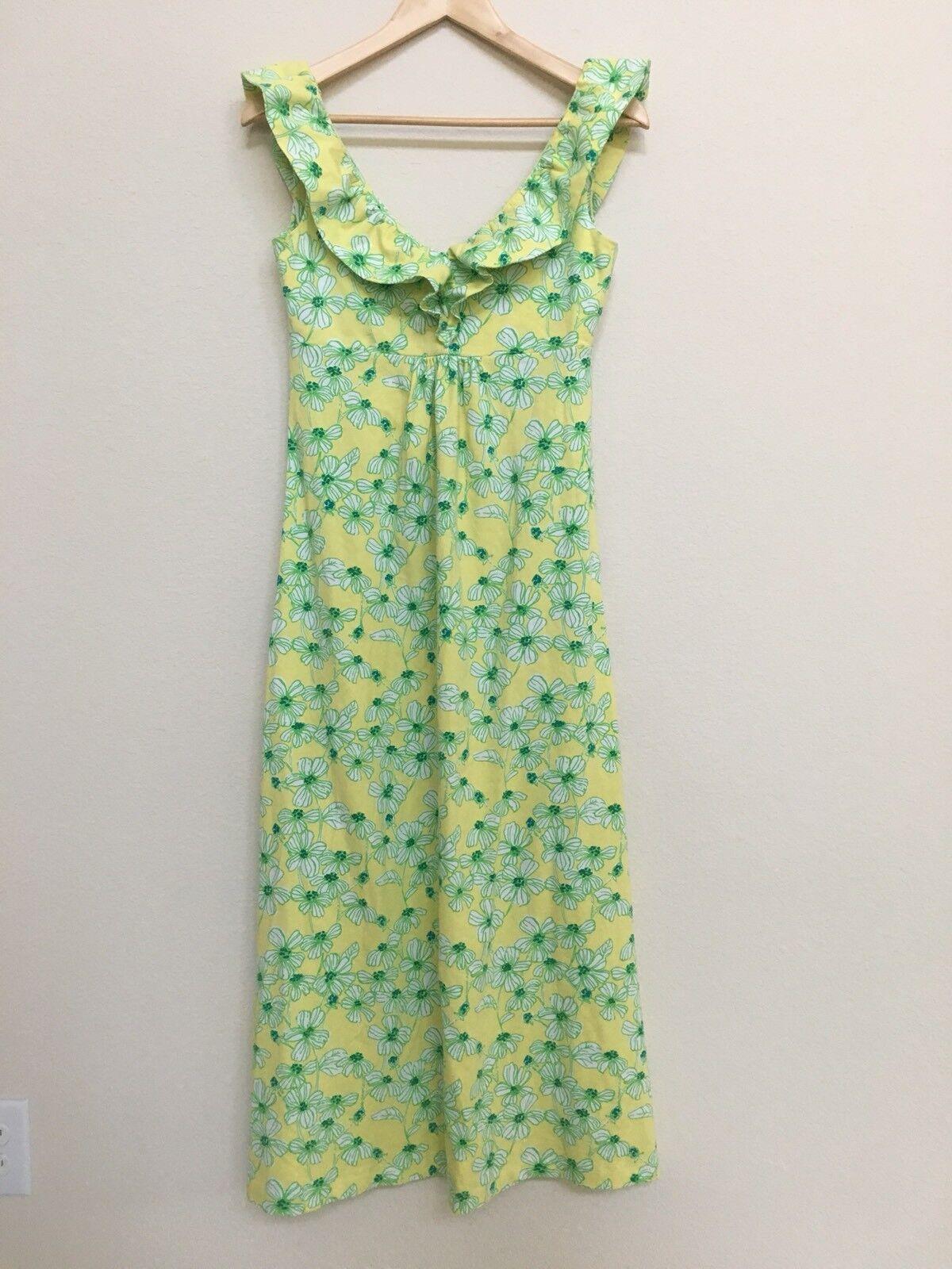 Lilly Pulitzer damen's XS Maxi Dress Grün & Gelb