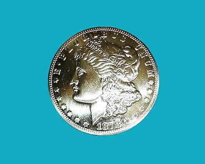 """Western Cowboy Tack Bright Morgan Silver Dollar Concho 1-1/2"""""""