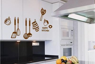 Happy kitchen Home Decor Removable Wall Sticker Decal Decoration Vinyl Mural