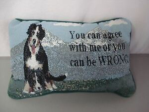 USA-Made-NWOT-You-Can-Agree-With-Me-Or-12-5-034-x-8-5-034-Tapestry-Word-Pillow-301