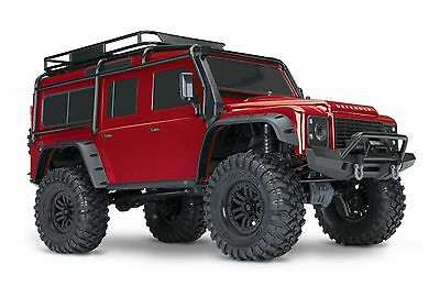 TRX-4 Scale and Trail Crawler with Land Rover® Defender® Body RED TRA82056-4