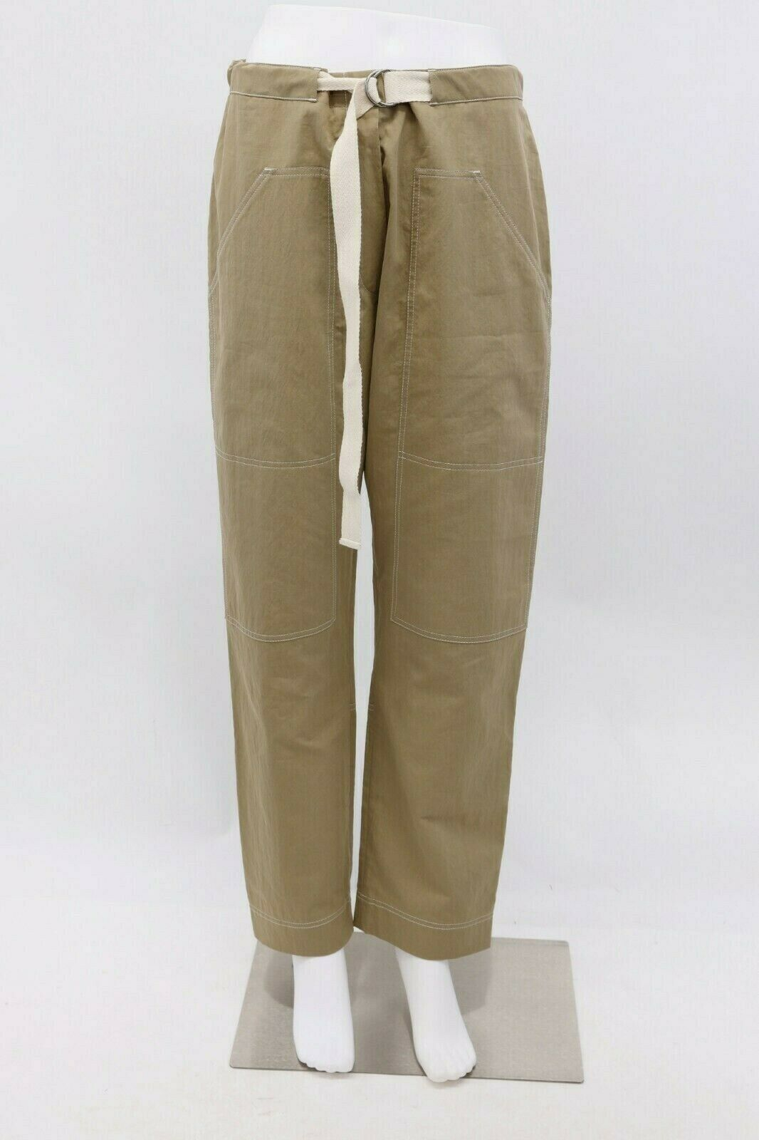 NWT 1195 Brunello Cucinelli damen Cotton Cargo Pant W Drawstring Belt42 6US A186