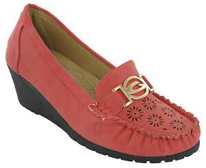 Damen Keilabsatz Schuhe Rot Mode Leicht Freizeit Komfort Sommer Ebay