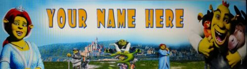 SHREK #132 PERSONALIZED  POSTER //BANNER  W// YOUR NAME 30X8.5