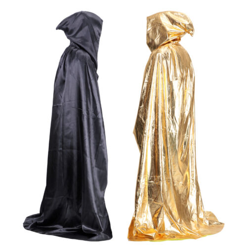 Medieval Hooded Cloak Wicca Long Robe Halloween Witchcraft Larp Capes Cosplay