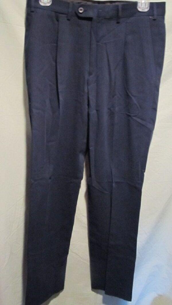 HART, SCHAFFNER, & MARX gold NAVY blueE DRESS PANTS SZ 34 NWTGS  RETAIL