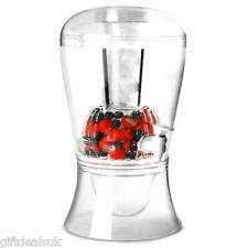 En el hielo 16pint bebidas Bebidas Jugo Dispensador De Fruta Infusor Transparente fiesta de vino jarra