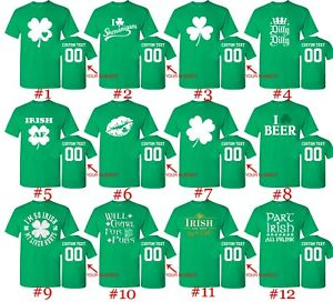 2cac6dfde98ce Customized St. Patricks Day T Shirts Text Custom Name Number St ...