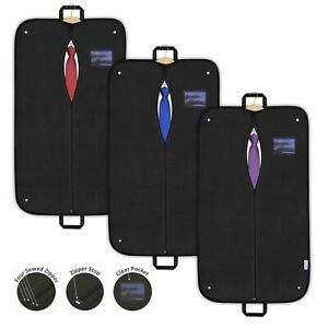 Suit-Bag-Garment-Cover-Dress-Clothes-Black-Breathable-Foldable-Travel-Carrier