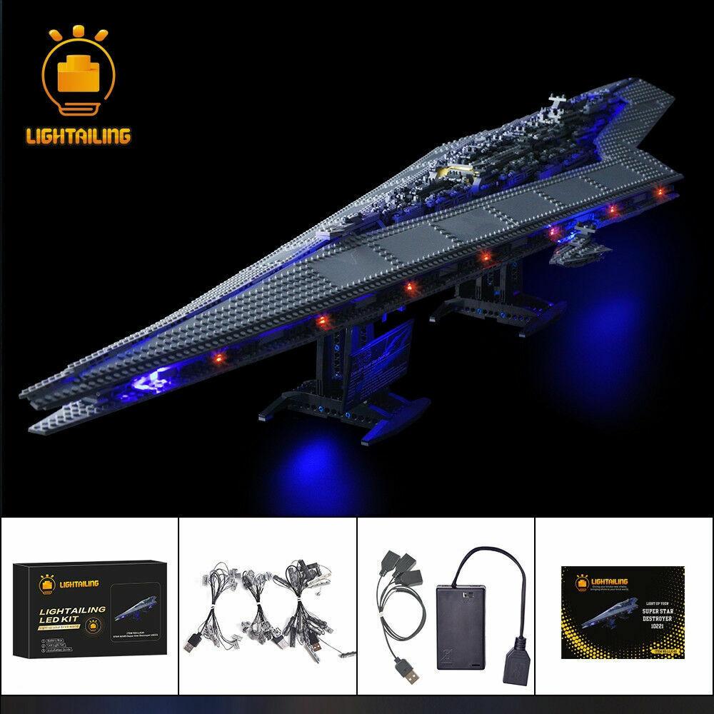 LED Licht Kit For Stern Wars Super Stern Destroyer Building LEGO 10221 lighting