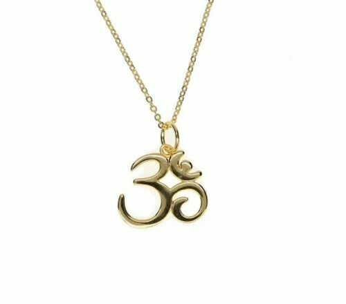 14K Yellow Gold Polished Om Symbol Pendant Solid Pendants /& Charms Jewelry