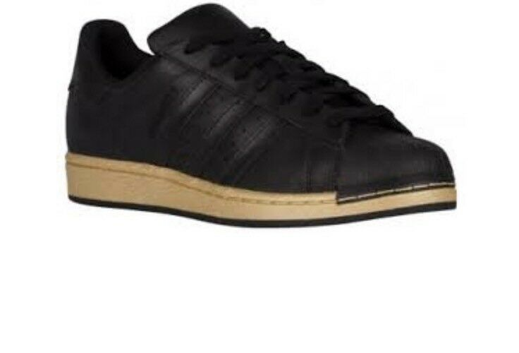 Brand New Adidas Superstar BB8119 Black gold Metalic Size 8
