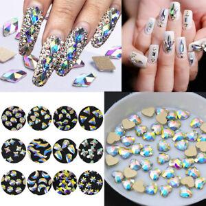 20pcs/bag nail art rhinestones bling gems holographic 3d