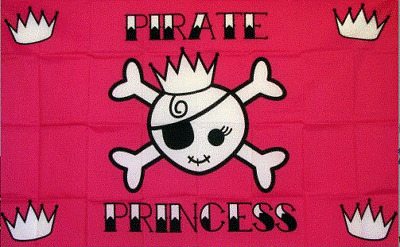 Pink Pirate Princess Replacement Flag ATV Bicycle Rhino UTV NEW 5 pk