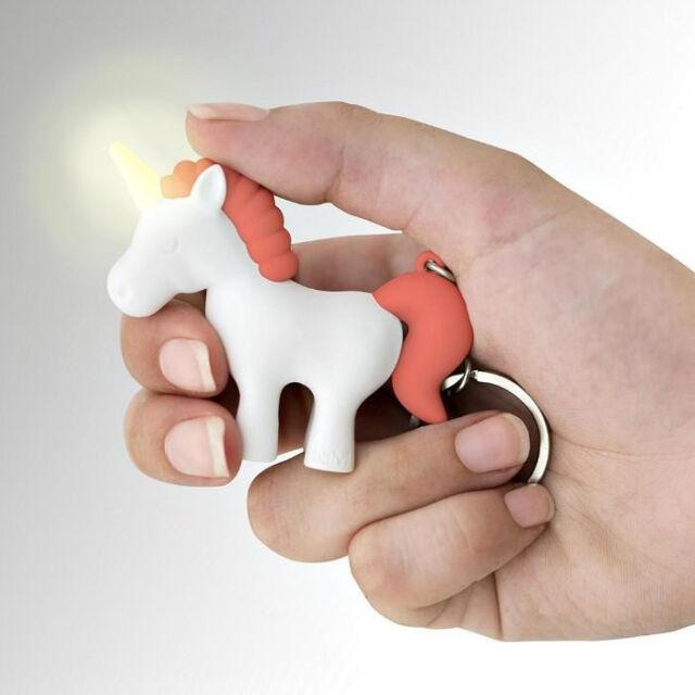 Unicorn Light and Sound Keyring Fantasy Torch Key Ring Fun Novelty Gift
