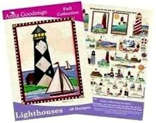 Lot 19 Lighthouses Embroidery California Pacific New England Florida Great Lakes