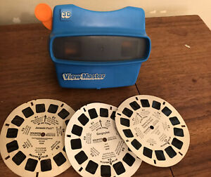 Vintage-Blue-3-D-View-Master-Toy-Tyco-Toys-Inc-A-Collectible