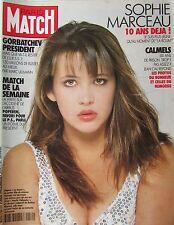 PARIS MATCH de 1990 SOPHIE MARCEAU GORBATCHEV TINA TURNER MARIA MAPLES ORTEGA