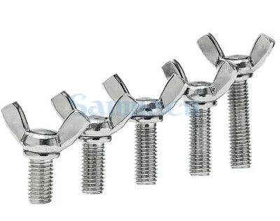 10PCS 304 Stainless Steel M4*0.7//M5*0.8//M6*1.0 Wing Bolt Butterfly Bolt Screws