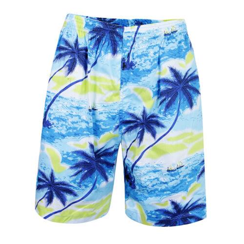 Da uomo hawaiana tropical Luau Swim Shorts Spiaggia Palma Vacanza Sport BAULI