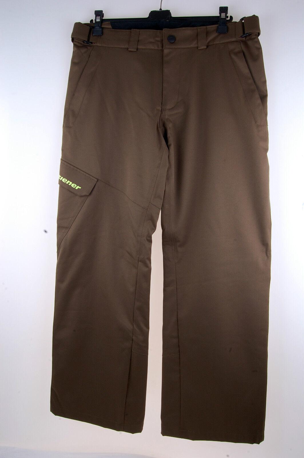 Ziener Hombres Pantalones Esquí Teviot Impermeable 10.000 Oliva 821 Talla 50