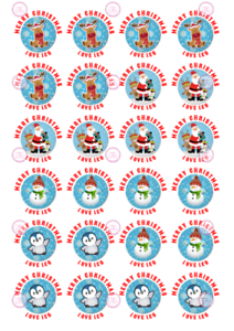 Personalised-Mixed-Present-Christmas-Stickers-Tag-Reindeer-Penguin-Snowman-Santa