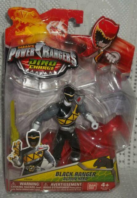 NIP POWER RANGERS DINO CHARGE BLACK RANGER ACTION HERO 42205 BANDAI